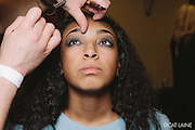 PROVIDENCE, RI - FEB 13: Kendra Moore backstage at the Alistair Archer show during StyleWeek NorthEast on February 13, 2015 in Providence, Rhode Island. (Photo by Cat Laine)