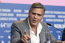 61034788<br /> George Clooney during the The Monuments Men press conference at the 64th Berlin International Film Festival / Berlinale 2014 in Berlin, Germany, Saturday, February 8, 2014 2014. Picture by  imago / i-Images<br /> UK ONLY