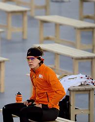 09-02-2014 SCHAATSEN: OLYMPIC GAMES: SOTSJI<br /> Concentratie Ireen Wust voor de gouden 3000 meter race.<br /> ©2014-FotoHoogendoorn.nl<br />  / Sportida