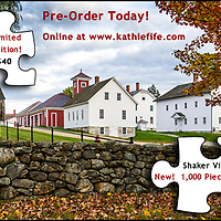 Fall at Canterbury Shaker Village, NH, USA.<br />