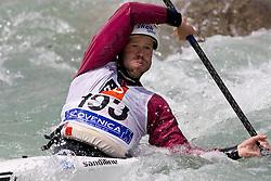 Dinko Mulic of Croatia competes in the Men's Kayak K1 at Kayak & Canoe ICF slalom race Tacen 2010 on May 16, 2010 in Tacen, Ljubljana, Slovenia. (Photo by Vid Ponikvar / Sportida)