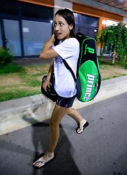 Katarina Srebotnik of Slovenia after she lost at 2nd Round of Singles at Banka Koper Slovenia Open WTA Tour tennis tournament, on July 21, 2010 in Portoroz / Portorose, Slovenia. (Photo by Vid Ponikvar / Sportida)