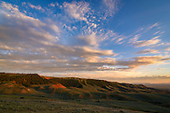 A colorful sunset fills the sky south of Casper Mountain.