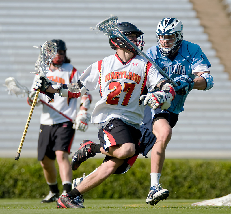 24 April 2009:Marylands sophomore attack #27 Ryan Young .