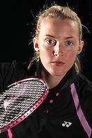 Imogen Bankier Scotland Badminton, World Badminton Championships photoshoot, NBC, Milton Keynes, England 2011
