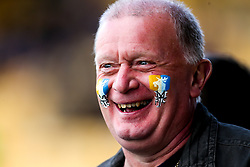 A Mansfield Town fans with the club badge painted onto his cheeks - Mandatory by-line: Robbie Stephenson/JMP - 12/05/2019 - FOOTBALL - One Call Stadium - Mansfield, England - Mansfield Town v Newport County - Sky Bet League Two Play-Off Semi-Final 2nd Leg