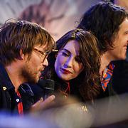 NLD/Amsterdam/20130418- Uitreiking 3FM Awards 2013, Carice van Houten in gesprek met Giel Beelen