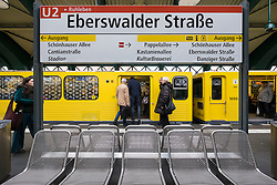 Eberswalder Strasse U-Bahn railway station in Prenzlauer Berg  Berlin Germany