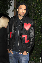 Chris Brown attends the Topshop Topman LA flagship store opening party at Cecconi s Restaurant, Los Angeles, US, February 13, 2013. Photo by Imago / i-Images...UK ONLY<br />