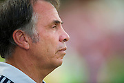 FRISCO, TX - AUGUST 11:  Head coach Bruce Arena of the Los Angeles Galaxy looks on against FC Dallas on August 11, 2013 at FC Dallas Stadium in Frisco, Texas.  (Photo by Cooper Neill/Getty Images) *** Local Caption *** Bruce Arena