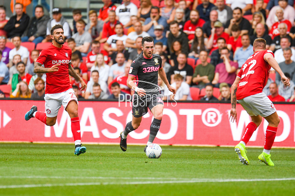Jack Harrison of Leeds United (22) during the EFL Sky Bet Championship match between Bristol City and Leeds United at Ashton Gate, Bristol, England on 4 August 2019.