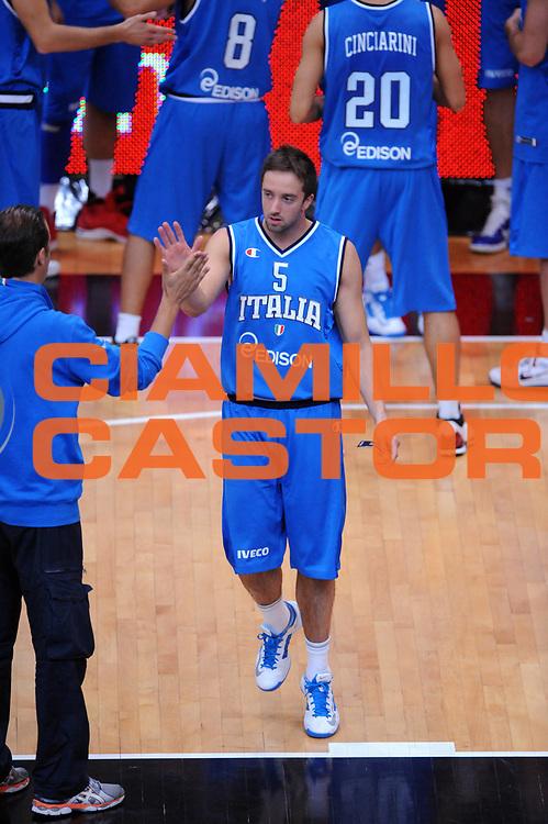 DESCRIZIONE : Trento Trentino Basket Cup Italia Polonia<br /> GIOCATORE : Daniele Cavaliero<br /> CATEGORIA : Presentazione<br /> SQUADRA : Nazionale Italia Maschile<br /> EVENTO :  Trento Trentino Basket Cup<br /> GARA : Italia Polonia<br /> DATA : 09/08/2013<br /> SPORT : Pallacanestro<br /> AUTORE : Agenzia Ciamillo-Castoria/Max.Ceretti<br /> Galleria : FIP Nazionali 2013<br /> Fotonotizia : Trento Trentino Basket Cup Italia Israele<br /> Predefinita :