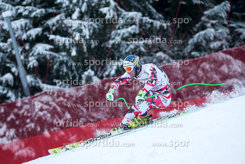 28.02.2015, Kandahar, Garmisch Partenkirchen, GER, FIS Weltcup Ski Alpin, Abfahrt, Herren, im Bild Vincent Kriechmayr (AUT) // Vincent Kriechmayr of Austria in action during the men's Downhill of the FIS Ski Alpine World Cup at the Kandahar course, Garmisch Partenkirchen, Germany on 2015/02/28. EXPA Pictures © 2015, PhotoCredit: EXPA/ Johann Groder