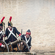 Historical recreation of the sieges of Zaragoza  by Napoleon's Imperial Army, in the Peninsular War  (1807–1814).