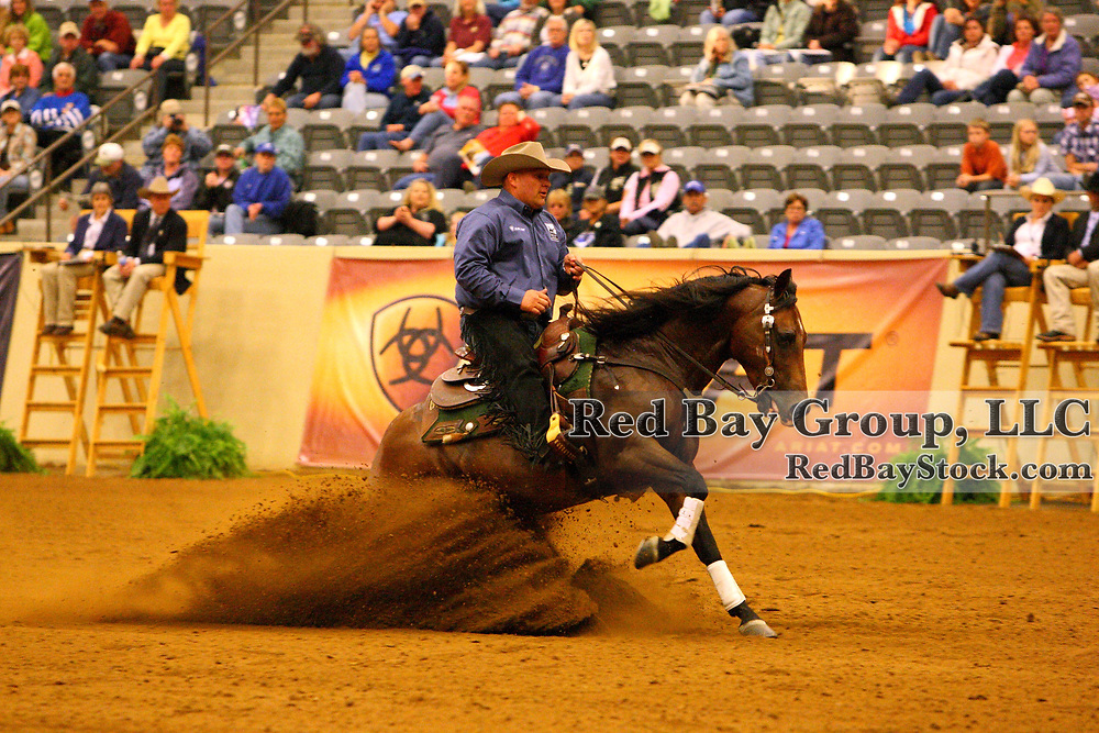Shawn Flarida and KR Lil Conquistador at the 2011 Kentucky Reining Cup in Lexington, KY.