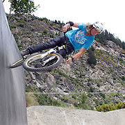 Kelly McGarry from Queenstown in action during the Gorge Road Mega Jam, for BMX and Mountain Bike riders to mark the opening  of the Gorge Road Jump Park run by the Queenstown Mountain Bike Club,  Queenstown, New Zealand. 3rd December 2011. Photo Tim Clayton