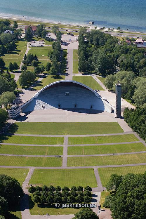 Aerial Image of Song Festival Arena in Tallinn, Estonia
