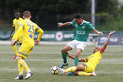 April 28, 2018 - France - Loic Lapoussin (red star) vs Johann Paul  (Credit Image: © Panoramic via ZUMA Press)