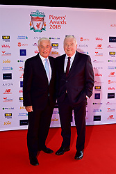 LIVERPOOL, ENGLAND - Thursday, May 10, 2018: Former Liverpool players  & manager Roy Evans and player Ian Callaghan arrive on the red carpet for the Liverpool FC Players' Awards 2018 at Anfield. (Pic by David Rawcliffe/Propaganda)