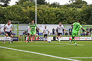 Forest Green Rovers Keanu Marsh-Brown (7) shoots and scores, 1-0 during the Vanarama National League match between Forest Green Rovers and Bromley FC at the New Lawn, Forest Green, United Kingdom on 17 September 2016. Photo by Shane Healey.