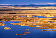 Buena Vista Ponds at sunrise from Buena Vista Lookout, Malheur National Wildlife Refuge, southeastern Oregon..