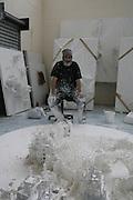 Jerry Judah  in his studio in King's Cross. London. June 2007.  -DO NOT ARCHIVE-© Copyright Photograph by Dafydd Jones. 248 Clapham Rd. London SW9 0PZ. Tel 0207 820 0771. www.dafjones.com.