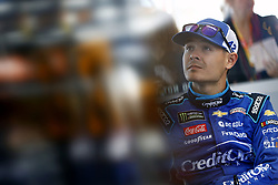 March 2, 2018 - Las Vegas, Nevada, United States of America - March 02, 2018 - Las Vegas, Nevada, USA: Kyle Larson (42) hangs out in the garage during practice for the Pennzoil 400 at Las Vegas Motor Speedway in Las Vegas, Nevada. (Credit Image: © Justin R. Noe Asp Inc/ASP via ZUMA Wire)