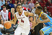 FAYETTEVILLE, AR - NOVEMBER 13:  Jabril Durham #4 of the Arkansas Razorbacks is guarded closely by Trein Banks #3 of the Southern University Jaguars at Bud Walton Arena on November 13, 2015 in Fayetteville, Arkansas.  The Razorbacks defeated the Jaguars 86-68.  (Photo by Wesley Hitt/Getty Images) *** Local Caption *** Jabril Durham; Trein Banks