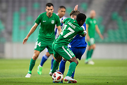 Abass Issah of NK Olimpija Ljubljana during 1st Leg football match between NK Olimpija Ljubljana and HJK Helsinki in 3rd Qualifying Round of UEFA Europa League 2018/19, on August 9, 2018 in SRC Stozice, Ljubljana, Slovenia. Photo by Urban Urbanc / Sportida