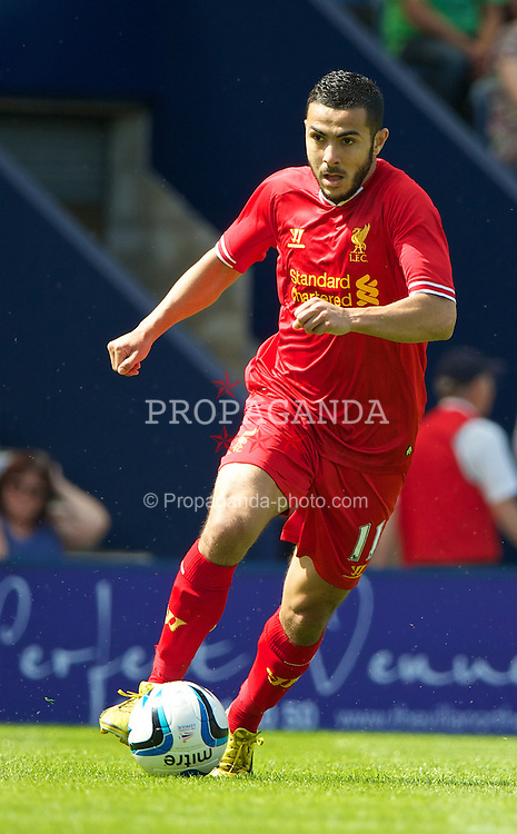 PRESTON, ENGLAND - Saturday, July 13, 2013: Liverpool's Oussama Assaidi in action against Preston North End during a preseason friendly match at Deepdale. (Pic by David Rawcliffe/Propaganda)
