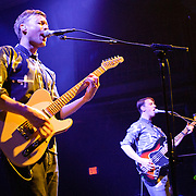 WASHINGTON, DC - March 10th  2013 -  Vincent Neff and Jimmy Dixon of Django Django perform at the 9:30 Club in Washington, D.C. The band's self-titled debut album has earned plaudits from The Guardian, Rolling Stone and the NME. (Photo by Kyle Gustafson/For The Washington Post)