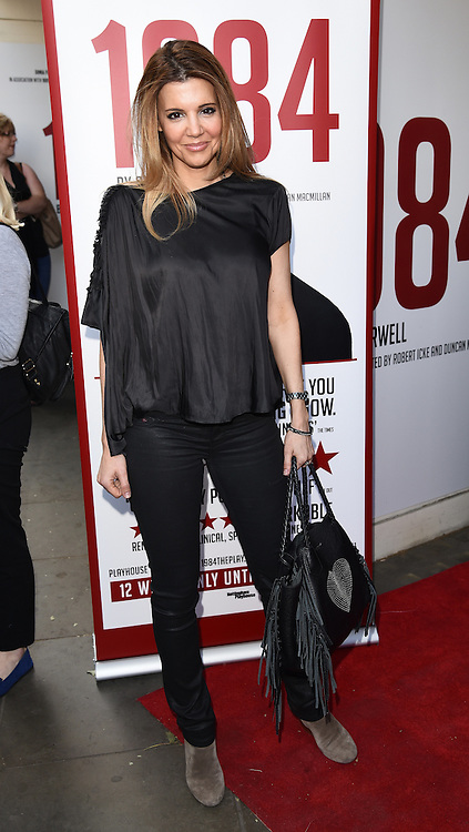 Linda Papadopoulos attends 1984 Play press night at The Playhouse, Norththumberland Avenue, London on Thursday 18 June 2015