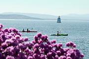 Spring kayaking at Burlington, Vermont
