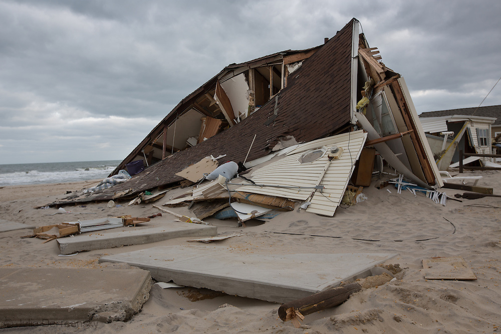 Ocean Beach, NJ, November 18, Homes destroyed by Superstorm Sandy's surge.