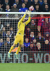 Ipswich Town's Dean Gerken saves a Southampton shot at goal - Photo mandatory by-line: Paul Knight/JMP - Mobile: 07966 386802 - 04/01/2015 - SPORT - Football - Southampton - St Mary's Stadium - Southampton v Ipswich Town - FA Cup Third Round