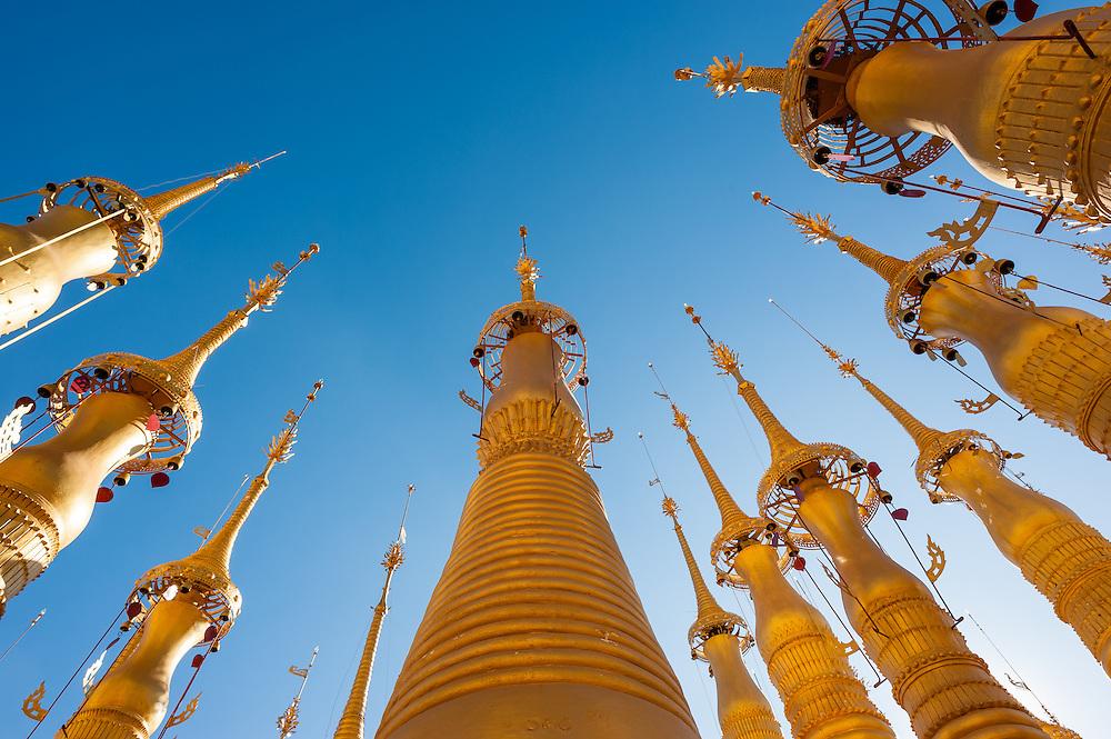 Golden stupas at Indein (Inle Lake, Myanmar)