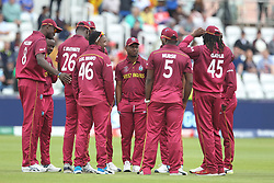 July 1, 2019 - Chester Le Street, County Durham, United Kingdom - The West Indies players    during the ICC Cricket World Cup 2019 match between Sri Lanka and West Indies at Emirates Riverside, Chester le Street on Monday 1st July 2019. (Credit Image: © Mi News/NurPhoto via ZUMA Press)