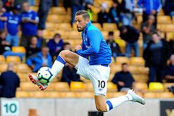Gylfi Sigurdsson of Everton warms up- Mandatory by-line: Nizaam Jones/JMP - 11/08/2018/ - FOOTBALL -Molineux  - Wolverhampton, England - Wolverhampton Wanderers v Everton - Premier League