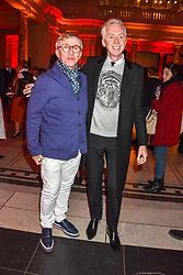 Jasper Conran and Philip Treacy at the Mary Quant VIP Preview at The Victoria & Albert Museum, London, England. 03 April 2019. <br /> <br /> ***For fees please contact us prior to publication***