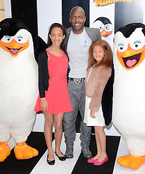 Kevin Adams and daughters attend Penguins of Madagascar Multimedia Screening at Vue West End, Leicester Square, London on Saturday 29th   November 2014
