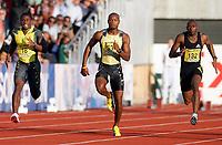 Friidrett , 15. juni 2007 , IAAF Golden League Bislett Games Oslo , <br /> Athletics <br /> Asafa Powell (33) , Darrel Brown (18) , <br /> <br /> <br /> Foto: Anders Hoven , Digitalsport
