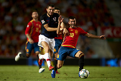 September 11, 2018 - Elche, Spain - Mateo Kovacic of Croatia and Gaya of Spain battle for the ball during the UEFA Nations League football match between Spain and Croatia at Martinez Valero Stadium in Elche, Spain on September 8, 2018. (Credit Image: © Jose Breton/NurPhoto/ZUMA Press)