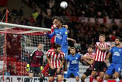 Ivan Toney of Peterborough United challenges for the ball - Mandatory by-line: Joe Dent/JMP - 02/10/2018 - FOOTBALL - Stadium of Light - Sunderland, England - Sunderland v Peterborough United - Sky Bet League One