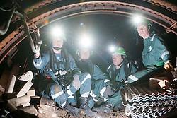 Aiden Henderson, Liam Parish, Kevin Watts and Operations manager Errol Parrish. Mine Rescue Service at Crossgates Training Centre, Crossgates, Fife..Pic © Michael Schofield.