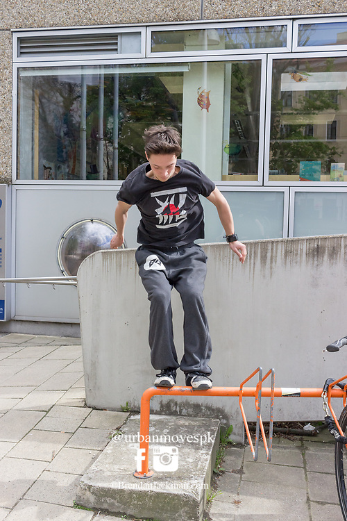 Parkour and Freerunning at Schwendermarkt, Vienna, Austria at the Parkour-Vienna Forum Meeting 23.04.17.