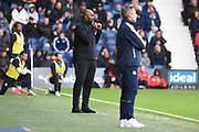 West Bromwich Albion manager Darren Moore gives instructions during the EFL Sky Bet Championship match between West Bromwich Albion and Millwall at The Hawthorns, West Bromwich, England on 22 September 2018.