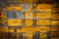 Wine box ends in Saint Emilion, France<br /> <br /> (c) Andrew Wilson | Edinburgh Elite media