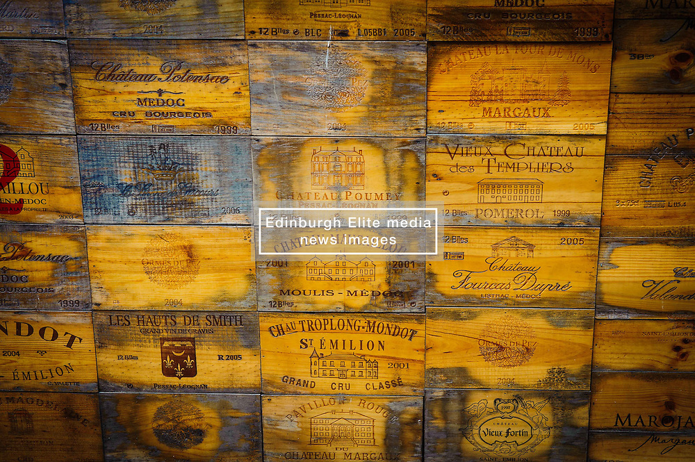 Wine box ends in Saint Emilion, France<br /> <br /> (c) Andrew Wilson | Edinburgh Elite media