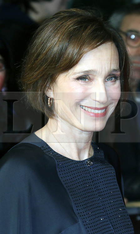 © London News Pictures. Kristin Scott Thomas, The Invisible Woman - UK film premiere, Odeon Kensington High Street, London UK, 27 January 2014. Photo credit: Richard Goldschmidt/LNP