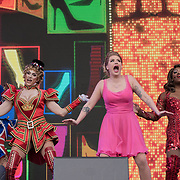 Kinky Boots on stage at West End Live on June 16 2018  in Trafalgar Square, London.